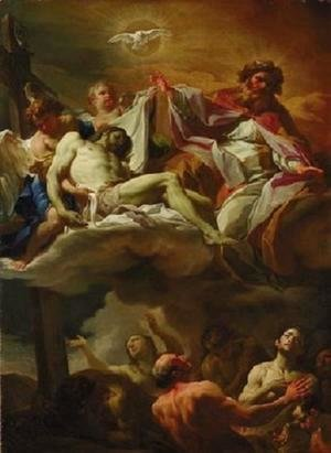 Corrado Giaquinto - The Trinity with Souls in Purgatory