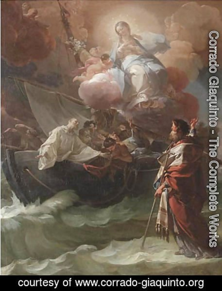 Corrado Giaquinto - Saint Nicholas of Bari miraculously saving the victims of a shipwreck