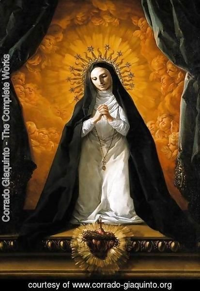Corrado Giaquinto - St Margaret Mary Alacoque Contemplating the Sacred Heart of Jesus c. 1765