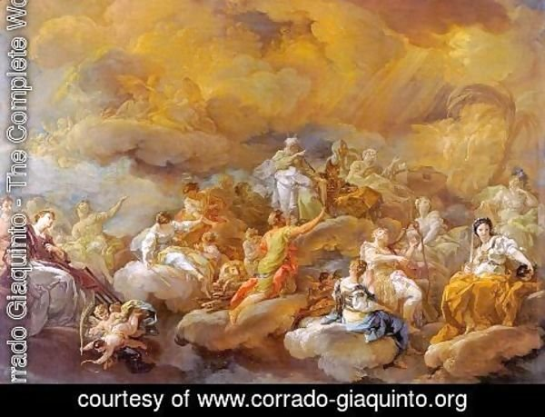Corrado Giaquinto - Saints in Glory 1755